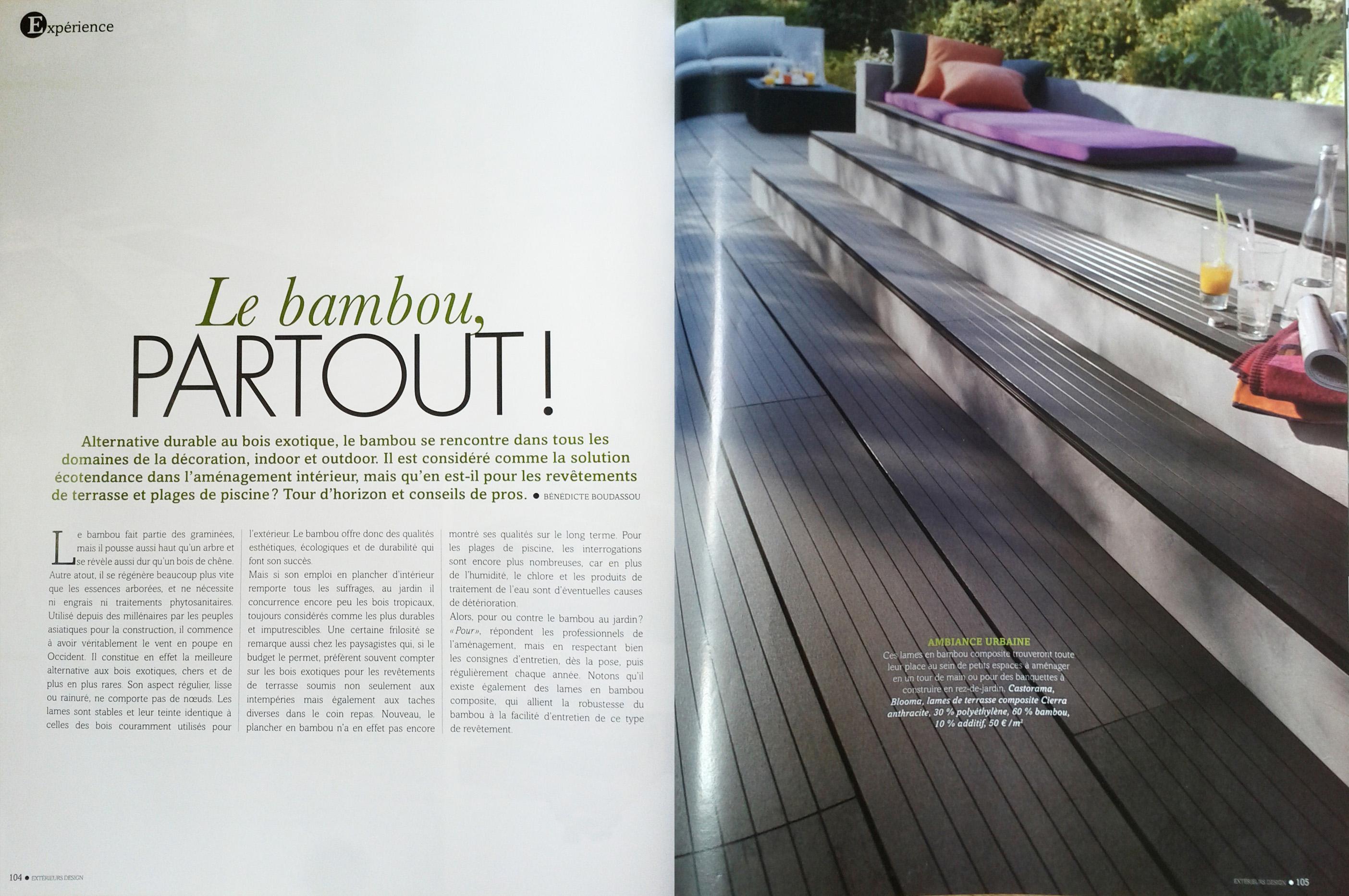 On parle de nous blog ecoligne bambou toutes l for Magazine amenagement interieur