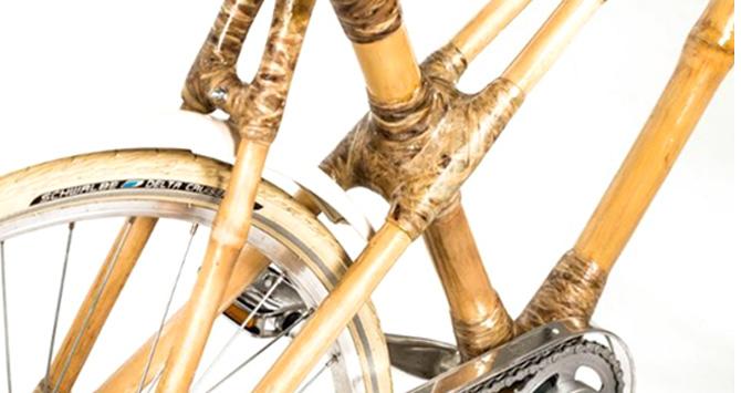 Vélo en bambou fabriqué en Ghana.